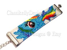 My Little Pony Rainbow Dash Beaded Bracelet by ClassikellyDesigns, $20.00