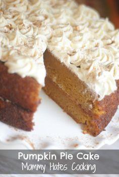 Pumpkin Pie Cake {Gluten Free Optional}