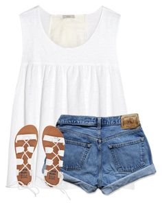 Fourth of July is almost here! by ponyboysgirlfriend on Polyvore featuring Clu, Abercrombie & Fitch and Billabong