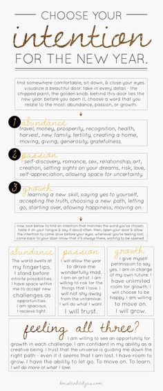 @Kristen Hedges is the best! Use this guide to set your intentions for the new year!