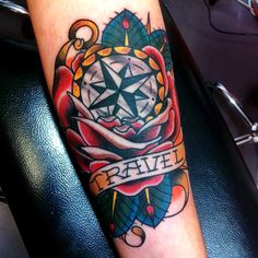My Old School TRAVEL tattoo