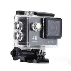 Only €39.47, black EKEN H9 Full HD 4K Wifi 1080p 60fps 12MP 170°Wide Angel Lens - Tomtop.com