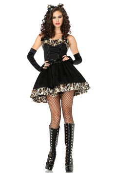 Fairy Feline leopard up skirt costume with glooves and ear piece    Item No : DC50280   Price : $9.19   Category : Animals & InsectsGoods click : 9   Update time : 2012-05-05Availability : In Stock.   material : Acrylic+Spandex  Fairy Feline leopard up skirt costume with glooves and ears, need stocking pls visit our website.