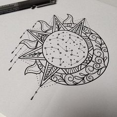 the sun and the moon,sketch, outline, sketching,design 4.5k saves ...