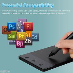 4'' USB Art Graphics Drawing Tablet Cordless Digital Pen for PC Laptop Computer