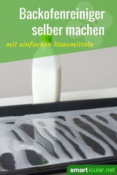 Statt ätzende Spezialprodukte zu kaufen, kannst du einen effektiven Backofenrei… Instead of buying caustic special products, you can easily make an effective oven cleaner with home remedies yourself – for your health and the environment. Household Cleaning Tips, House Cleaning Tips, Diy Cleaning Products, Cleaning Hacks, Household Products, Diy Hacks, Oven Cleaner, Clean Baking Pans, Floating Shelves Diy