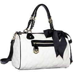 Betsey Johnson One And Only Now Satchel ($108) ❤ liked on Polyvore