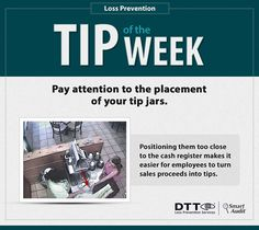 LP Tip of the Week: Pay attention to the placement of your tip jars! #DTTLPTips