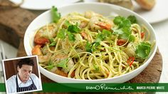Pasta with prawns recipe. This recipe is inspired by the way Italians cook their seafood – flavoured with olive oil, garlic, chilli and white wine. Simple but good.