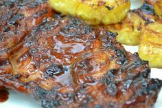 Grilled Pork Steaks...we used the orange juice cilantro jalapeno marinade overnight and it was delish