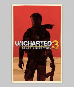 Uncharted 3 poster by WilliamHenryDesign on Etsy, $20.00