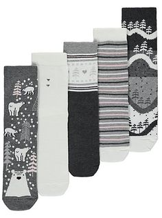5 Pack Winter Christmas Socks, read reviews and buy online at George at ASDA. Shop from our latest range in Women. Glitter and Fairisle and Polar Bears! Oh m...