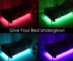 In this Instructable, I'll be explaining how to make your bed look awesome with RGB LEDs. The ones I got are remote controlled, they have different options such as fading or flashing, and they are very inexpensive. Recently there was a sale on banggood.com for a 5 meter long, remote controlled LED strip. It was a great deal, so I bought one. I didn't have any plans in mind for what I should do with it.Two separate events caused me to come up with Bed Underglow. First, I saw a car drive by at…
