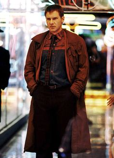 Harrison Ford's collar in Blade Runner is best when it's up and buttoned