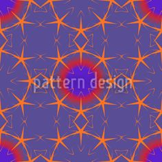 Starix by Andreas Loher available for download as a vector file on patterndesigns.com Orange And Purple, Vector Pattern, Vector File, Surface Design, Neon Signs, Graphic Design, Star, Patterns, Inspiration