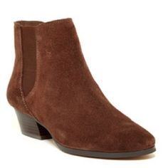 """NWT Vince Camuto Corter Booties - Size 7 - Suede Details: A soft suede crafts this classic bootie with a subtle heel perfect for everyday wear.  Sizing: True to size.  - Round toe - Side goring detail - Side zip closure - Approx. 4.5"""" shaft height, 10.25"""" opening circumference - Imported Materials: Suede upper,manmade sole Vince Camuto Shoes Ankle Boots & Booties"""
