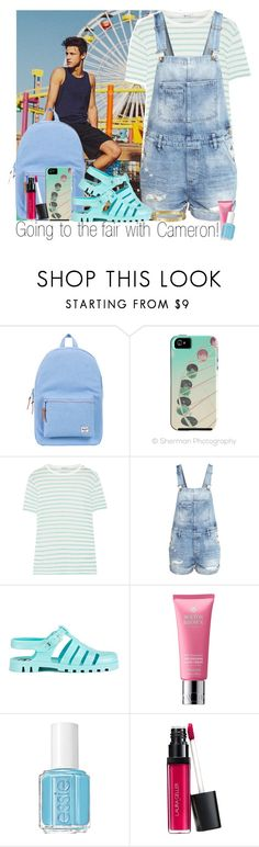 """""""Going to the fair with Cameron Dallas!"""" by solinestyle ❤ liked on Polyvore featuring Herschel Supply Co., T By Alexander Wang, H&M, JuJu, Molton Brown, Essie, Laura Geller and Cartier"""