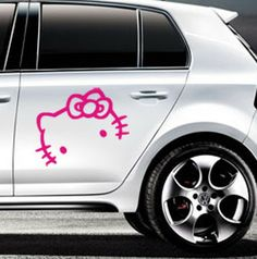 Completely Custom Vinyl Stickers By NPGraphics On Etsy - Hello kitty custom vinyl decals for car