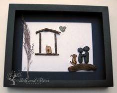 Unique Housewarming Gift Personalized COUPLE'S by SticksnStone