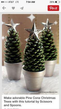 Pine cone trees!