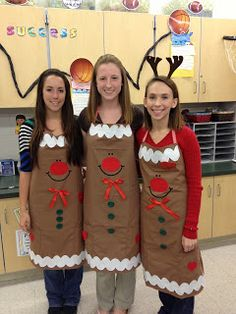 Gingerbread Aprons would be great for Christmas luncheon.