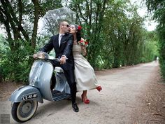 Some newlyweds are choosing to go solo — sans even a hired driver. Grooms are whisking their brides away in a friend's vintage automobile or the groom's dream car, rented for the occasion. One groom we know decided to take the reins of an old-fashioned horse-drawn carriage!