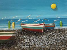 La spiaggia sassosa di Trebisacce -painted Stones di Rosaria Gagliardi