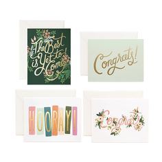 "Rifle Paper Co. Birchbox Exclusive Congrats Set, <span class=""price"">$18.00</span> #birchbox"