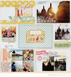 Project Life | Week 5 left page using @Studio Calico Neverland Project Life kit only + printables