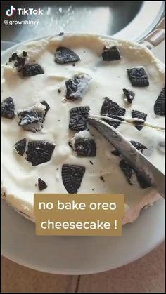 Fun Baking Recipes, Sweet Recipes, Dessert Recipes, Cooking Recipes, Oreo Dessert, Oreo Cake, Dinner Recipes, Healthy Recipes, Baked Oreo Cheesecake Recipe