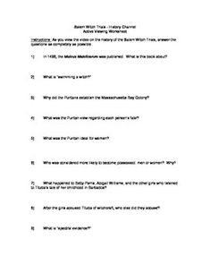 The Salem Witch Trials FREE Lapbook Templates! (Late Elementary ...