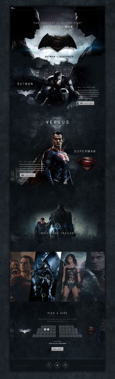 Batman vs Superman Website Concept on Behance