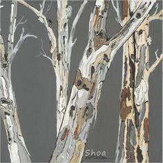LARGE SET 30x60 Eucalyptus tree painting fine art print