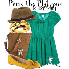 Perry the Platypus, created by lalakay on Polyvore.  OMG THERE'S A PLATYPUS RING?