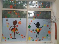 Leaf Crafts, Diy And Crafts, Crafts For Kids, Christmas Window Decorations, School Decorations, Autumn Crafts, Autumn Art, Classroom Walls, Classroom Decor