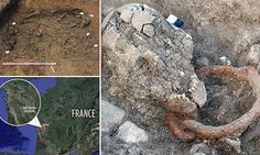 Roman slaves are unearthed -- Skeletons with shackles around necks unearthed during excavation