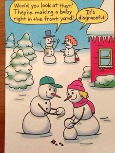 Snowman humor--- too funny (: Haha Funny, Funny Cute, Funny Memes, Funny Stuff, Retro Funny, Silly Jokes, Freaking Hilarious, Videos Funny, Funny Shit