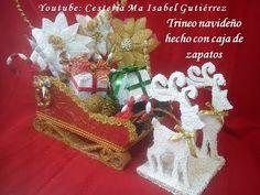 Decora en navidad DIY renos de papel reciclado - Decorate at Christmas, DIY recycled paper reindeer - YouTube