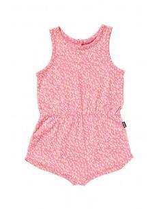 Bonds Girls Playsuit Pink Leopard 41N