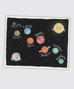 This Galaxy Solar System Wall Art is perfect! #zulilyfinds