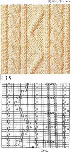 nice beautiful knitting stitch pattern lace aran красивые узоры на спицах click to large