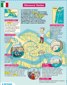 Découvre Venise French Teacher, French Class, French Lessons, Teaching French, Flags Europe, Medical Mnemonics, French History, City Maps, Learn French