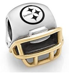 855a6e37 Pittsburgh Steelers #Pandora helmet charm. Click to order! Nfl Football  Helmets, Packers