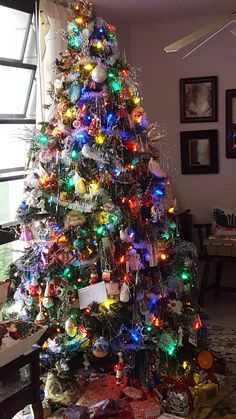 Decorated Christmas Balls Your Real Estate Resource  Colour Light Christmas Tree And