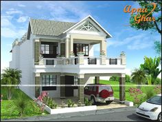 5 bedroom House is itself a class and If You have it than it should be perfect in looks and designing.#duplexdesign   5 Bedrooms Duplex House Design Green Court Yard with Family Sitting Area.  More details - http://apnaghar.co.in/house-design-421.aspx  Area: 336m2 (8m X 42m)   Call Toll-Free No.- 1800-102-9440 Email: support@apnaghar.co.in