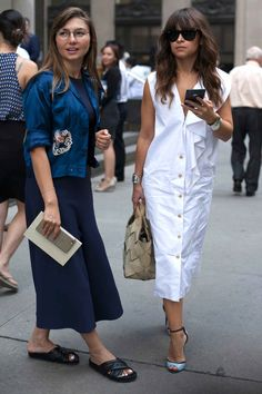 Nasiba Adilova and Miroslava Duma. Photo: Emily Malan/Fashionista