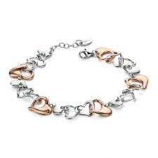 Fiorelli Silver Rose Gold and Silver Multi Heart Bracelet >>> Be sure to check out this helpful article. Unique Bracelets, Bangle Bracelets, Bangles, Fiorelli, Heart Bracelet, Jewelry Collection, Swarovski Crystals, Silver Jewelry, Rose Gold