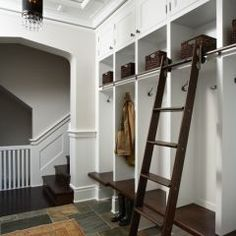 Cubby configuration, ladder