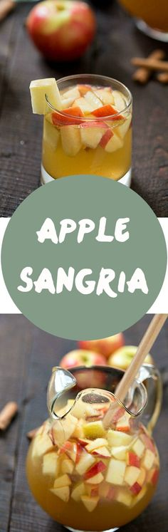 Apple Sangria - The perfect cocktail for busy holidays to relax with friends and family. Hints of honey crisp apples, caramel, apple cider, and cinnamon! #CRIOSinspires @criosbysbw