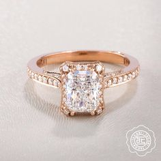 We love rose gold. Like us if you do too! #hinthint #rosegold #emerald #diamond…